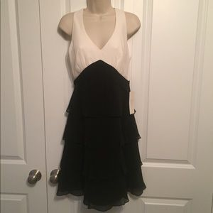 Black and white/cream party dress